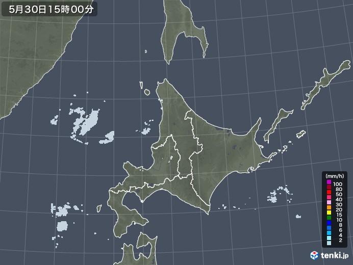 北海道地方の雨雲レーダー(2020年05月30日)