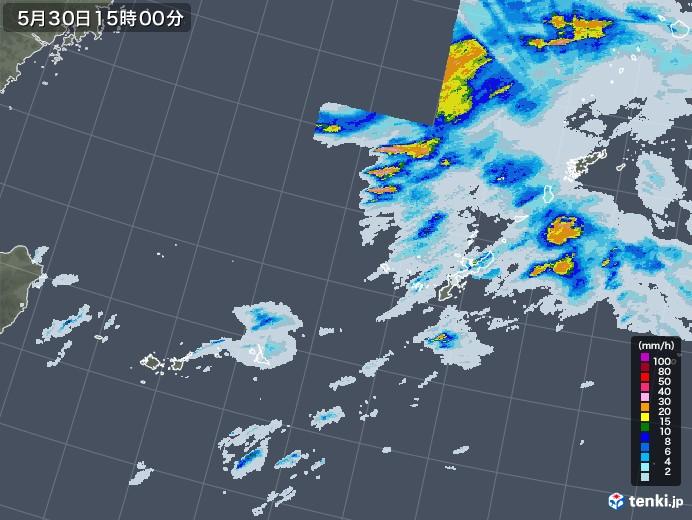 沖縄地方の雨雲レーダー(2020年05月30日)