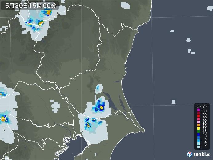 茨城県の雨雲レーダー(2020年05月30日)