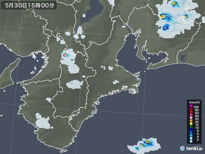 三重県の雨雲レーダー(2020年05月30日)