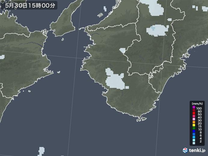 和歌山県の雨雲レーダー(2020年05月30日)
