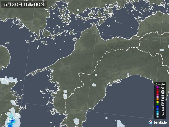 愛媛県の雨雲レーダー(2020年05月30日)