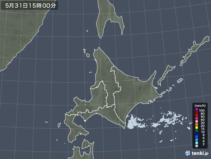 北海道地方の雨雲レーダー(2020年05月31日)