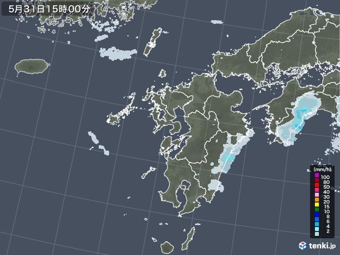 九州地方の雨雲レーダー(2020年05月31日)
