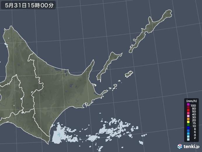 道東の雨雲レーダー(2020年05月31日)
