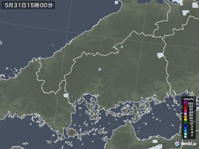広島県の雨雲レーダー(2020年05月31日)