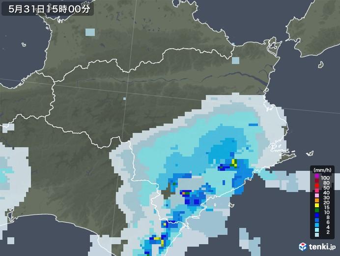徳島県の雨雲レーダー(2020年05月31日)