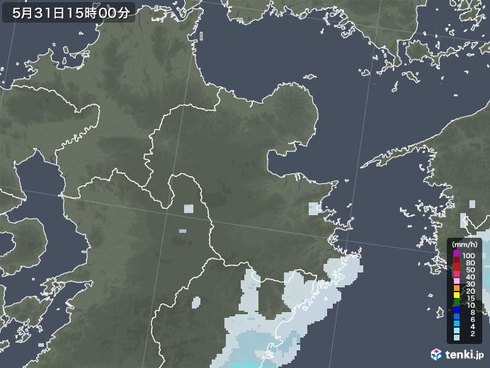 大分県の雨雲レーダー(2020年05月31日)