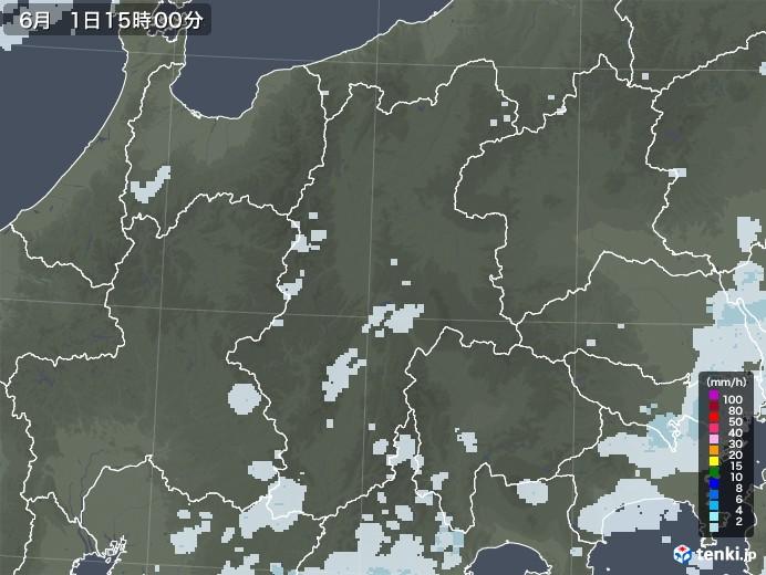 長野県の雨雲レーダー(2020年06月01日)