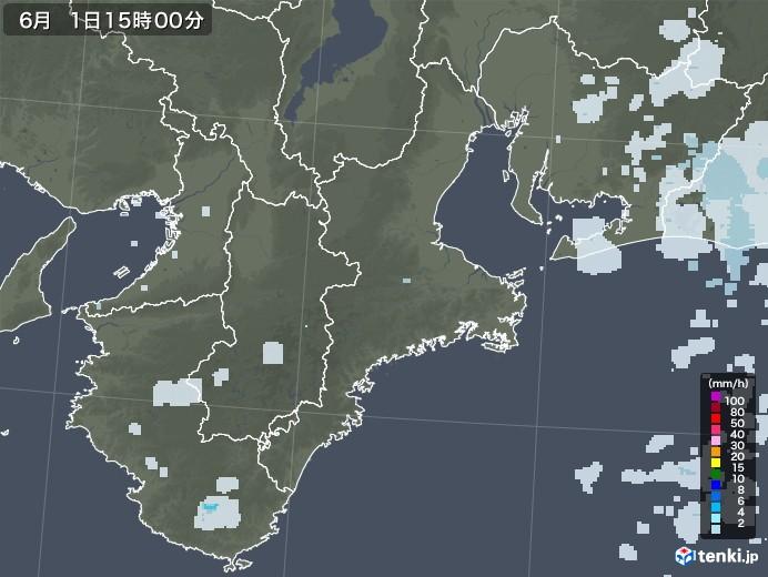 三重県の雨雲レーダー(2020年06月01日)