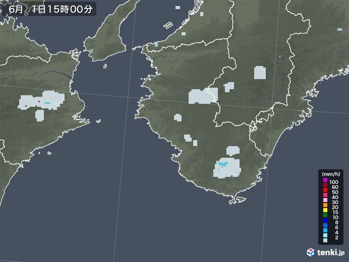 和歌山県の雨雲レーダー(2020年06月01日)