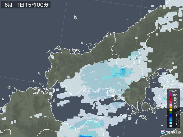 山口県の雨雲レーダー(2020年06月01日)
