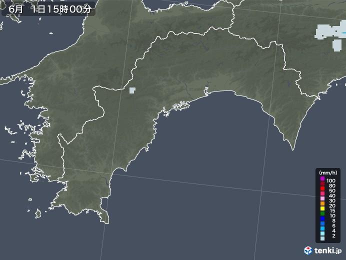 高知県の雨雲レーダー(2020年06月01日)