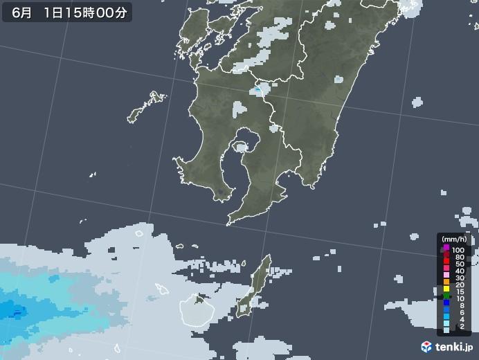 鹿児島県の雨雲レーダー(2020年06月01日)