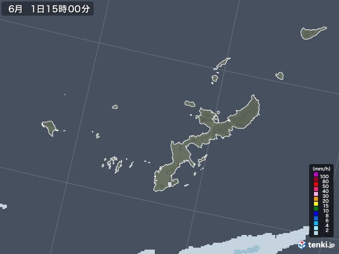 沖縄県の雨雲レーダー(2020年06月01日)