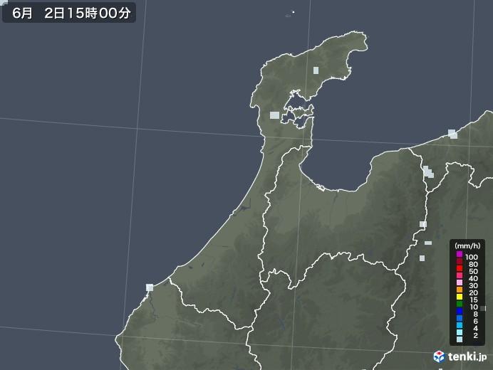 石川県の雨雲レーダー(2020年06月02日)