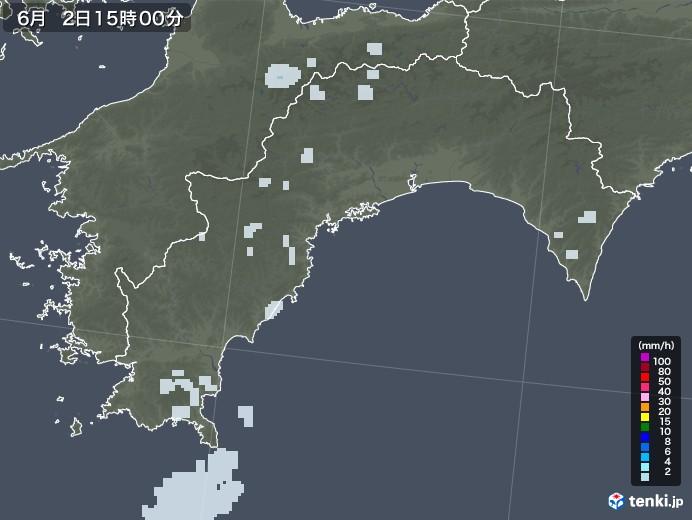 高知県の雨雲レーダー(2020年06月02日)