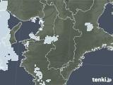 2020年06月03日の奈良県の雨雲レーダー