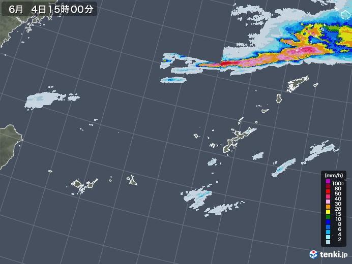 沖縄地方の雨雲レーダー(2020年06月04日)