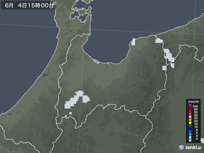 富山県の雨雲レーダー(2020年06月04日)