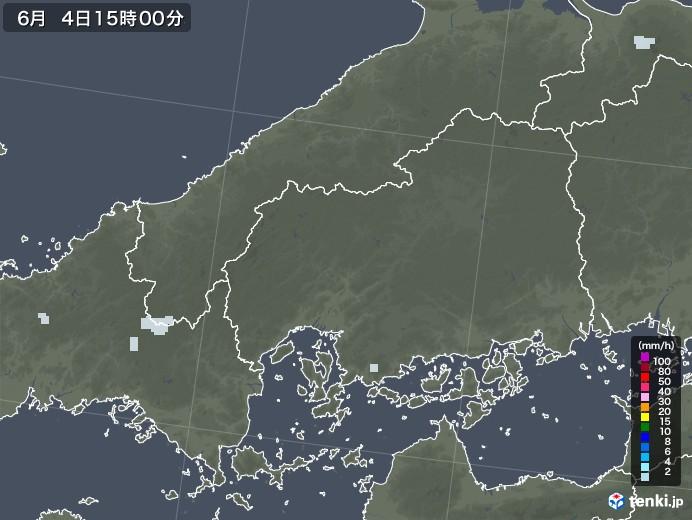 広島県の雨雲レーダー(2020年06月04日)