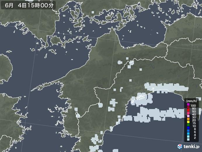 愛媛県の雨雲レーダー(2020年06月04日)