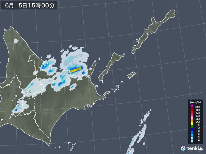 道東の雨雲レーダー(2020年06月05日)