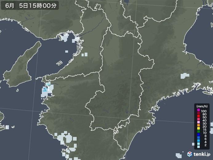 奈良県の雨雲レーダー(2020年06月05日)