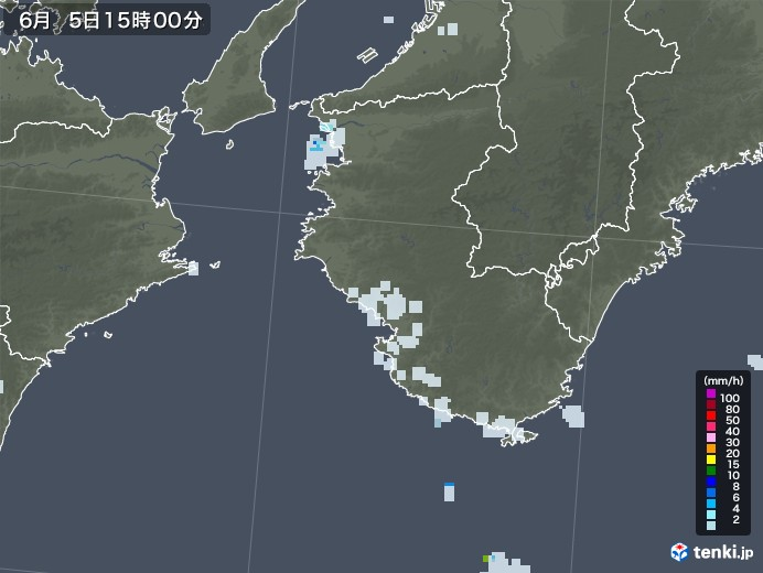 和歌山県の雨雲レーダー(2020年06月05日)