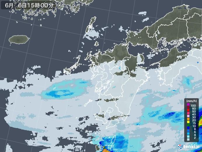 九州地方の雨雲レーダー(2020年06月06日)