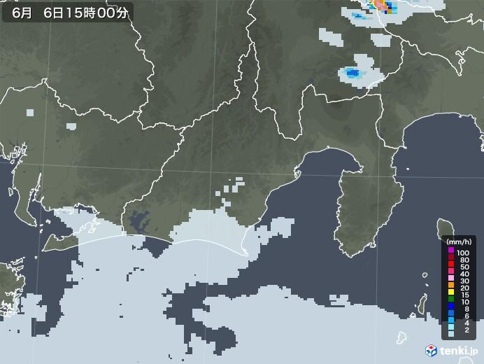 静岡県の雨雲レーダー(2020年06月06日)