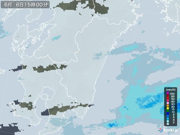 宮崎県の雨雲レーダー(2020年06月06日)