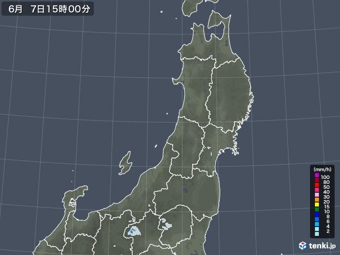 東北地方の雨雲レーダー(2020年06月07日)