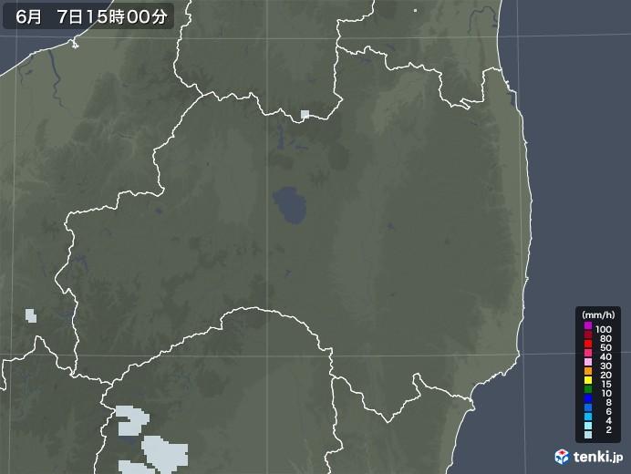 福島県の雨雲レーダー(2020年06月07日)