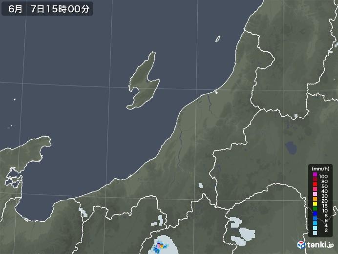 新潟県の雨雲レーダー(2020年06月07日)