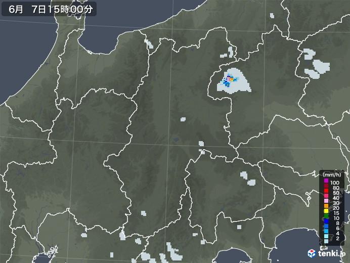 長野県の雨雲レーダー(2020年06月07日)