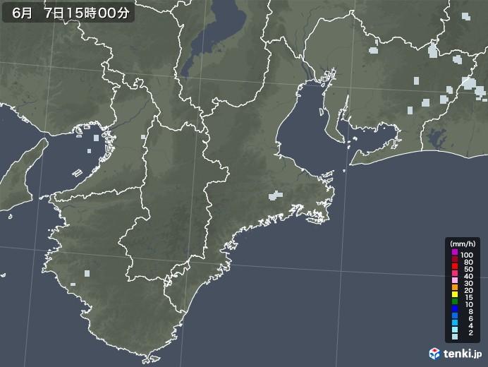 三重県の雨雲レーダー(2020年06月07日)