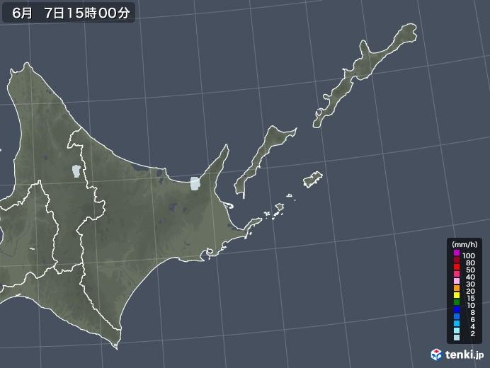 道東の雨雲レーダー(2020年06月07日)