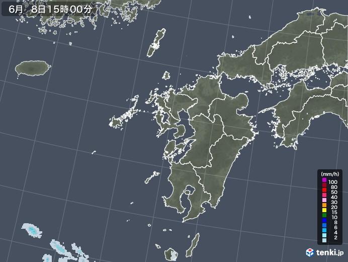 九州地方の雨雲レーダー(2020年06月08日)