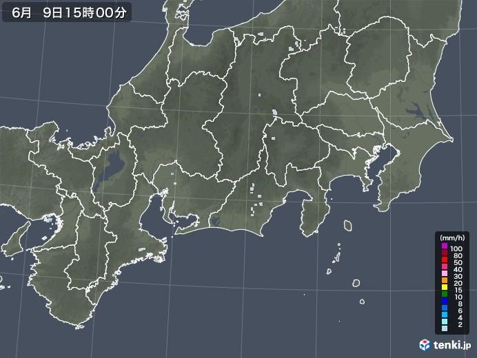 東海地方の雨雲レーダー(2020年06月09日)