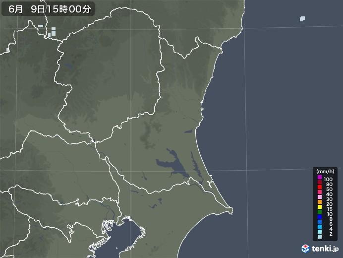 茨城県の雨雲レーダー(2020年06月09日)