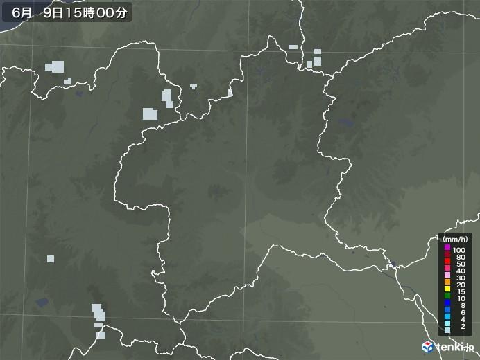 群馬県の雨雲レーダー(2020年06月09日)