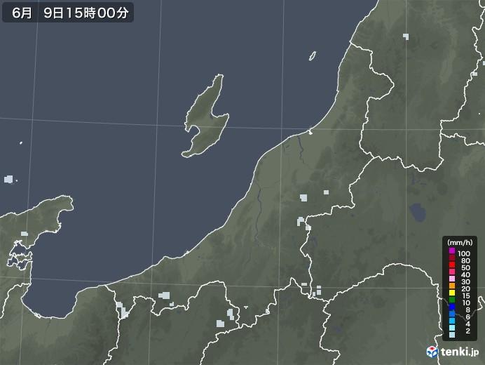新潟県の雨雲レーダー(2020年06月09日)