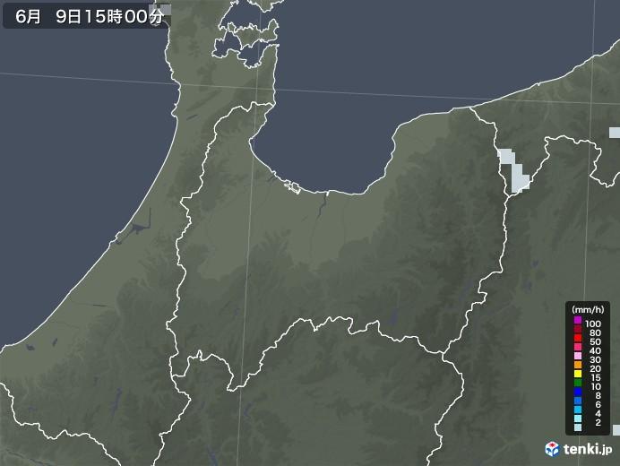 富山県の雨雲レーダー(2020年06月09日)