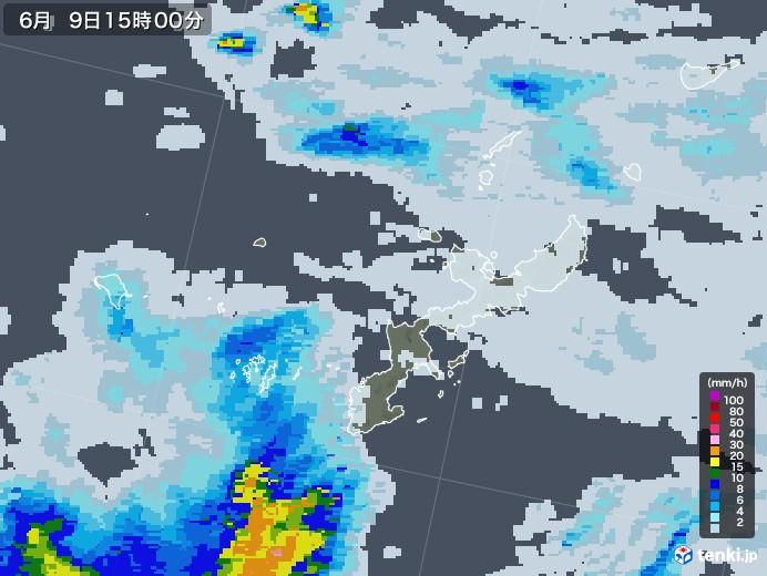 沖縄県の雨雲レーダー(2020年06月09日)