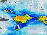 2020年06月11日の愛媛県の雨雲レーダー