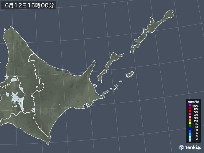 道東の雨雲レーダー(2020年06月12日)
