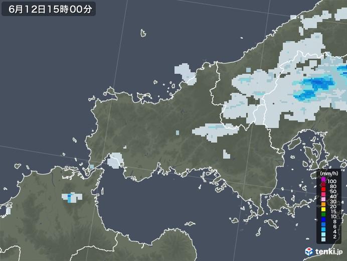 山口県の雨雲レーダー(2020年06月12日)