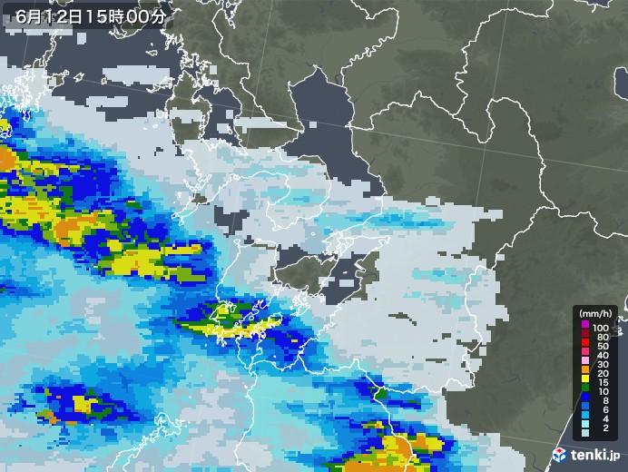 雨雲レーダー福岡