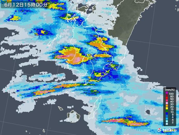 天気 雨雲 レーダー 別府
